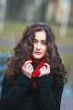 Retrato del otoño de una muchacha Imagen de archivo libre de regalías