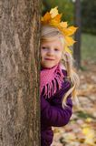 Retrato del otoño en parque Foto de archivo libre de regalías