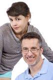 Retrato del padre y de la hija adolescente Fotografía de archivo libre de regalías
