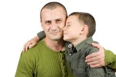Retrato del padre y del hijo Imágenes de archivo libres de regalías