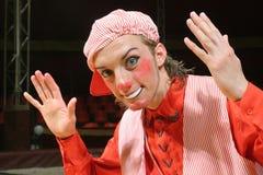 Retrato del payaso de circo   foto de archivo