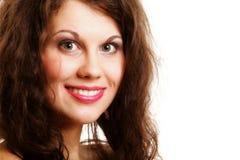 Retrato del pelo rizado largo de la muchacha hermosa Imagen de archivo