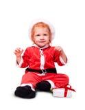 Retrato del pequeño bebé en rojo Imagen de archivo