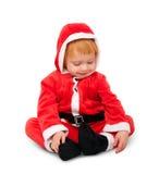 Retrato del pequeño bebé en rojo Imagenes de archivo