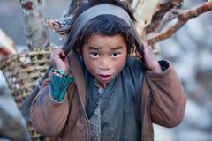 Retrato del pequeño portero Imagenes de archivo