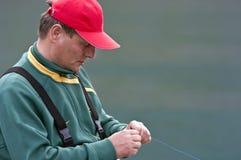 Retrato del pescador fotografía de archivo libre de regalías