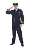 Retrato del piloto confiado Imagen de archivo libre de regalías