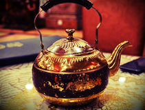 Retrato del pote del té Imagen de archivo libre de regalías