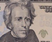 Retrato del presidente americano Jackson Foto de archivo libre de regalías