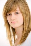 Retrato del primer de la muchacha adolescente Imagenes de archivo