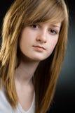 Retrato del primer de la muchacha adolescente Foto de archivo