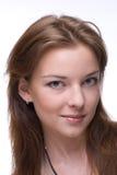 Retrato del primer de la muchacha con maquillaje claro Fotos de archivo libres de regalías