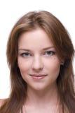 Retrato del primer de la muchacha con maquillaje claro Foto de archivo libre de regalías
