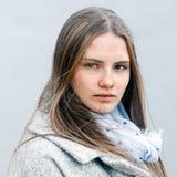 Retrato del primer de la muchacha natural de la belleza Fotos de archivo