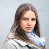 Retrato del primer de la muchacha natural de la belleza Imagenes de archivo