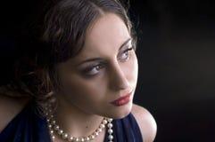 Retrato del primer de la mujer Foto de archivo libre de regalías