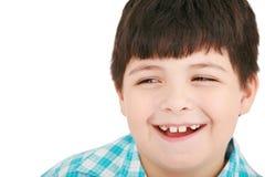 Retrato del primer de la risa linda del niño pequeño Imagen de archivo libre de regalías