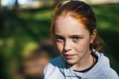 Retrato del primer de un adolescente Foto de archivo