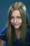Retrato del primer de una muchacha adolescente hermosa Fotografía de archivo