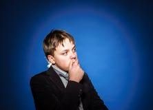 Retrato del primer del adolescente en estudio Fotografía de archivo