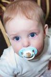 Retrato del primer del bebé adorable Fotos de archivo