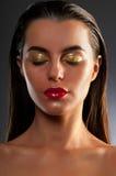 Retrato del primer del brunette hermoso Fotos de archivo libres de regalías