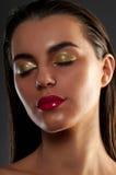Retrato del primer del brunette hermoso Imágenes de archivo libres de regalías