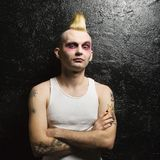 Retrato del punky masculino. imagenes de archivo