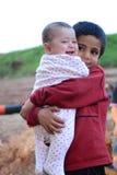 Retrato del refugiado de los niños Imagen de archivo libre de regalías