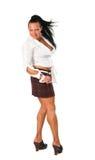 Retrato del `s de la mujer con musculatura grande Imagen de archivo libre de regalías