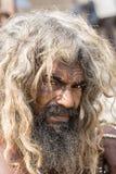 Retrato del sadhu de Shaiva, hombre santo en Varanasi, la India Imagen de archivo libre de regalías