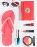 Retrato del sistema del maquillaje del verano Imagen de archivo libre de regalías