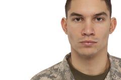 Retrato del soldado imágenes de archivo libres de regalías
