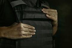 Retrato del soldado de sexo masculino joven foto de archivo libre de regalías