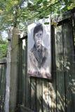 Retrato del soldado soviético, zona de Chornobyl Imagenes de archivo