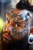 Retrato del tatuaje Imagenes de archivo