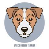 Retrato del terrier de Gato Russell Ejemplo del vector en el estilo o Imagenes de archivo