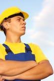 Retrato del trabajador de construcción Imágenes de archivo libres de regalías