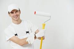 Retrato del trabajador del pintor de casa Fotografía de archivo libre de regalías