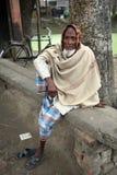 Retrato del trabajador en Kumrokhali, la India Fotografía de archivo
