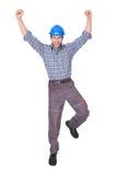 Retrato del trabajador feliz fotos de archivo