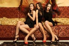 Retrato del tres mujeres hermosas Fotografía de archivo libre de regalías