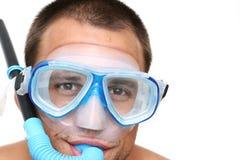 Retrato del tubo respirador Fotos de archivo libres de regalías
