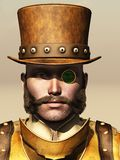 Retrato del varón de Steampunk stock de ilustración