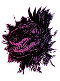 Retrato del Velociraptor del Grunge Fotos de archivo libres de regalías