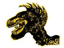 Retrato del Velociraptor del Grunge libre illustration