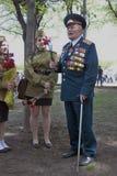 Retrato del veterano de guerra Imagen de archivo libre de regalías