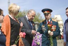 Retrato del veterano de guerra Foto de archivo libre de regalías