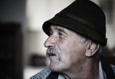Retrato del viejo hombre con el bigote, imagen de archivo