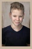 Retrato del vintage de un muchacho del adolescente Fotografía de archivo libre de regalías